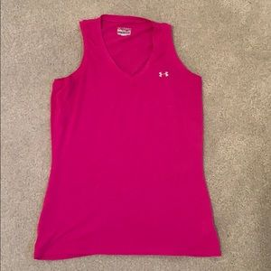 Under Armour Pink V neck Small